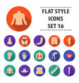 part of body set icons in flat style big vector image vector image