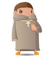 Pastor Man Character Cartoon Graphic vector image vector image