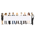 people holding a banner in vector image vector image