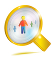 Personnel management concept icon vector image