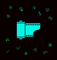 photographic film cassette icon graphic elements vector image