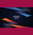 premium dark modern abstract background with blue vector image vector image
