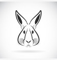 rabbit head design on white background wild vector image vector image