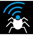 Radio spy bug icon from Business Bicolor Set vector image vector image