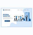 Referral marketing concept with businessman shout