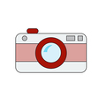 retro camera on white background vector image