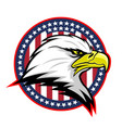 round badge with american eagle vector image