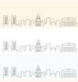 sacramento hand drawn skyline vector image vector image