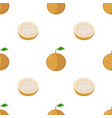 seamless pattern of santol exotic fruit vector image vector image