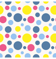 Seamless polka dot pattern in retro style