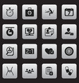 set of 16 editable complicated icons includes vector image