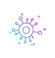 share icon design vector image vector image