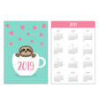 sloth sitting in red coffee tea cup pink hearts vector image vector image