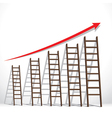 stair arrange in increase market graph concept vector image vector image