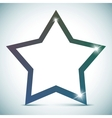 star banner - empty text frame vector image