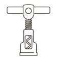 steel corkscrew icon outline style vector image