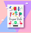 summer sale flyer for online shopping vector image vector image