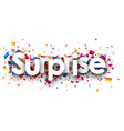 Surprise sign vector image