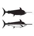 swordfish or marlin icon vector image