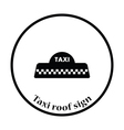 Taxi roof icon vector image vector image