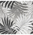 tropical seamless pattern dotted sketch palm vector image vector image