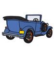 Vintage blue cabriolet vector image vector image