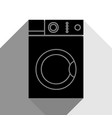 washing machine sign black icon with two vector image vector image