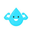 water drop modern style cartoon vector image