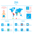 zika virus infographic elements vector image