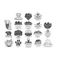 vintage forest stamps collection vector image