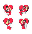 sketch couple valentine day vector image