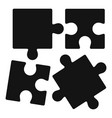 alzheimer puzzle test icon simple style vector image vector image