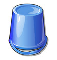 an inverted plastic bucket blue color isolated on vector image