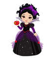 beautiful halloween princess vector image vector image