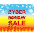 Big winter sale poster with CYBER MONDAY SALE text vector image vector image