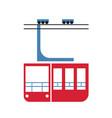 cableway trolley simple art geometric vector image vector image