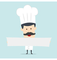 Chef hold blank board for use in advertising vector image vector image