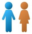 Children Couple Gradient Icon vector image