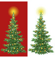 christmas tree with decorations vector image vector image