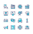 cinema production color icons set vector image vector image