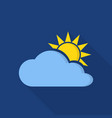 cloudy icon flat style vector image