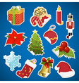 collection of christmas stickers with corner vector image vector image