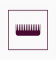 comb icon simple barbershop vector image