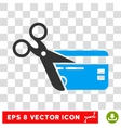 Cut Credit Card Eps Icon vector image