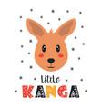 cute little kangaroo card in scandinavian vector image