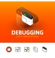 Debugging icon in different style vector image vector image
