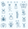 Doodle insects vector | Price: 1 Credit (USD $1)