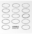 doodle sketched circles hand drawn scribble vector image vector image