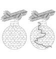 easy christmas ornament maze vector image vector image