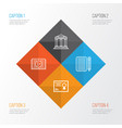 education icons set collection of certificate vector image vector image